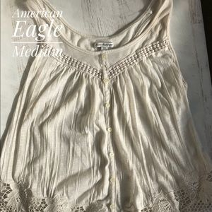 American Eagle lace racerback tank top md